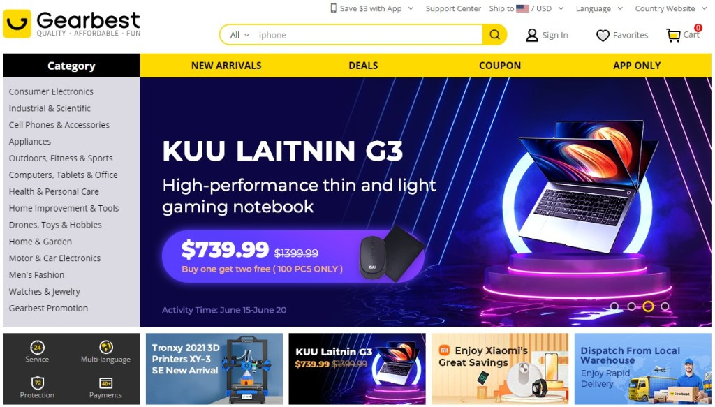 Gearbest alternative dropshipping marketplace to Alibaba