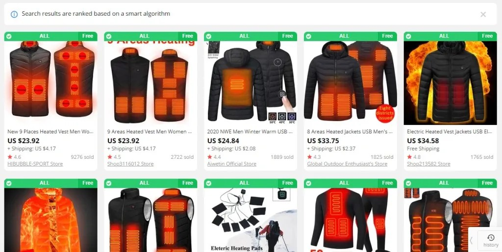 Heated clothing dropshipping products
