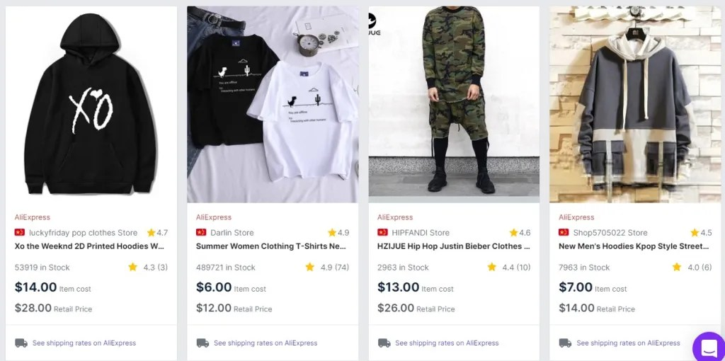 KPop clothing dropshipping products