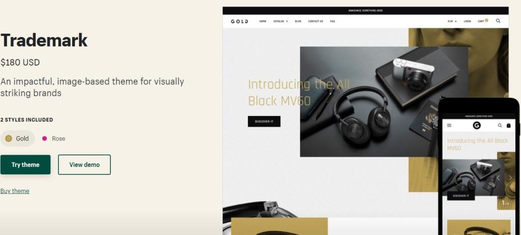 Shopify Trademark theme