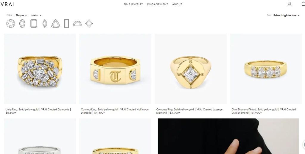 Vrai & Oro high ticket jewelry eCommerce store