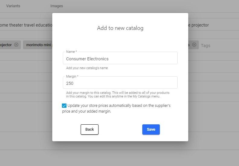 Create a new Syncee catalog