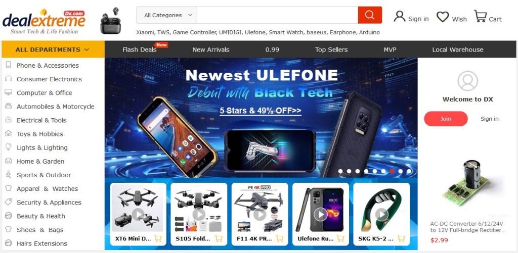 DX alternative dropshipping marketplace to Alibaba