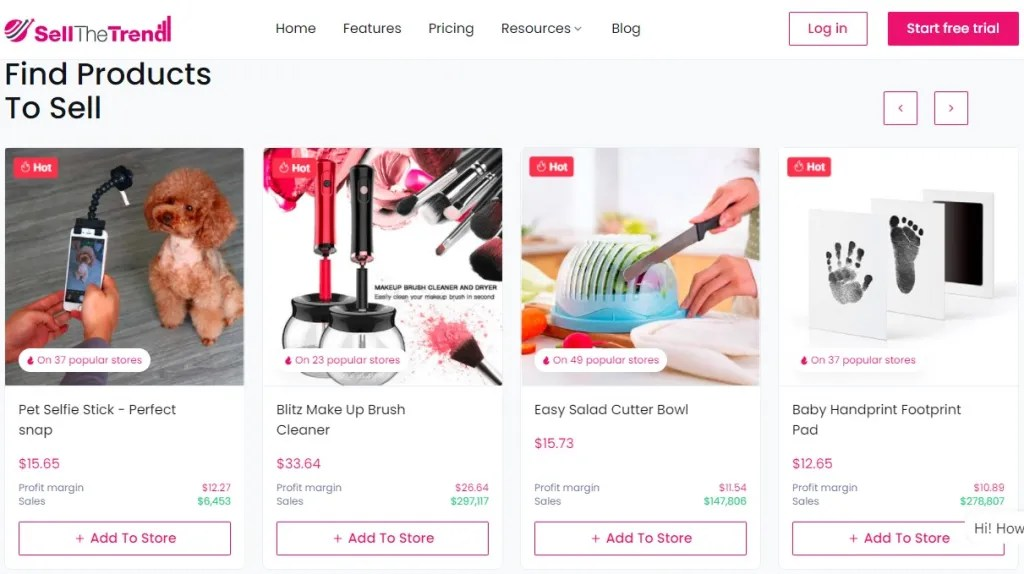 Winning dropshipping product research tool example