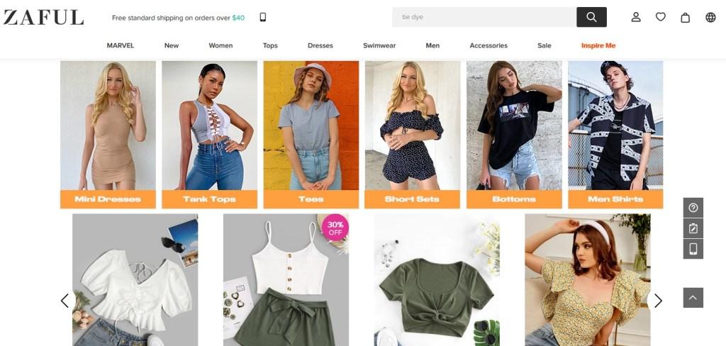 ZAFUL alternative dropshipping marketplace to Alibaba