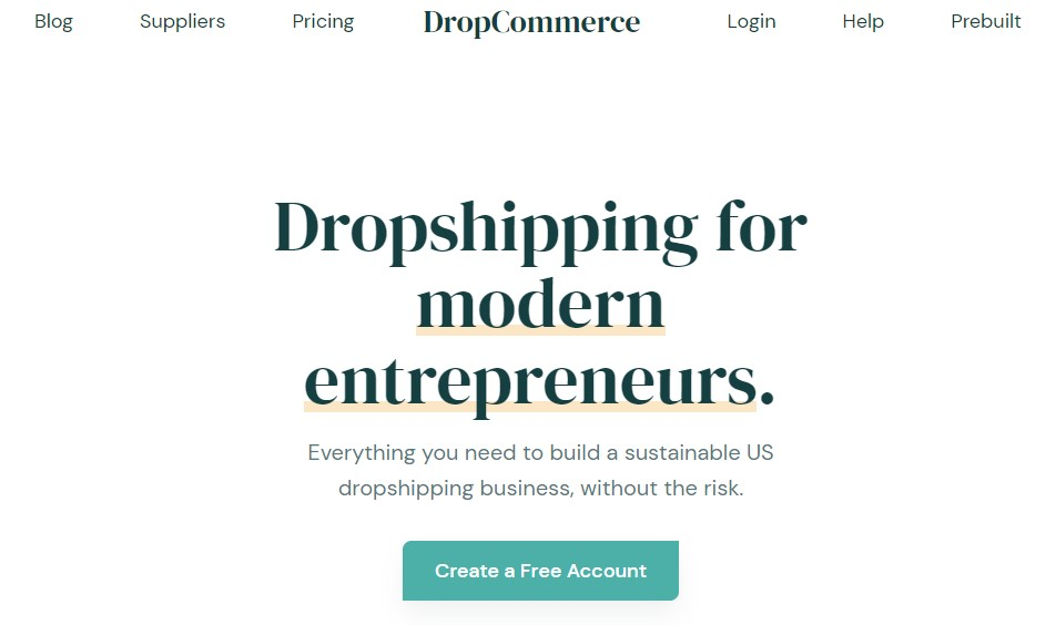 DropCommerce non-Chinese dropshipping supplier