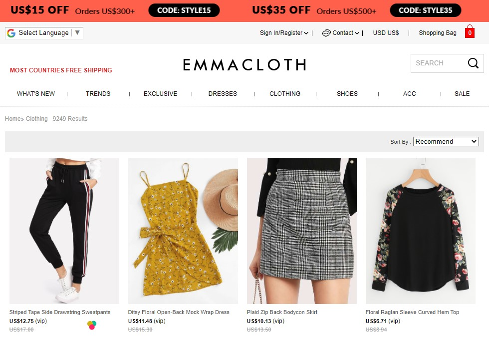 EmmaCloth - Alternative to DHgate