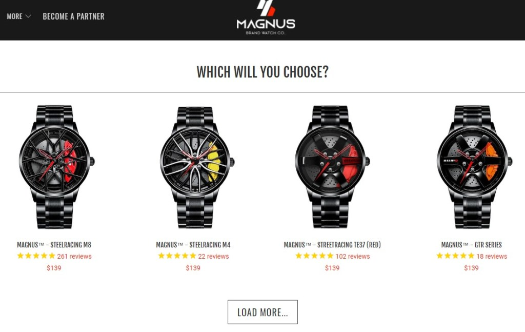 Magnus Brand watch dropshipping store