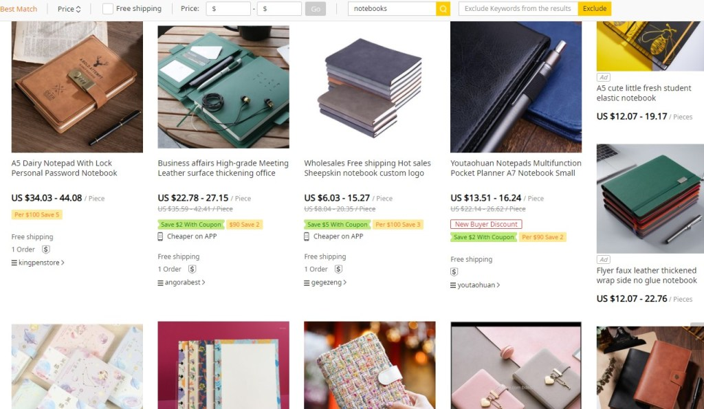 Notebook dropshipping products on Syncee