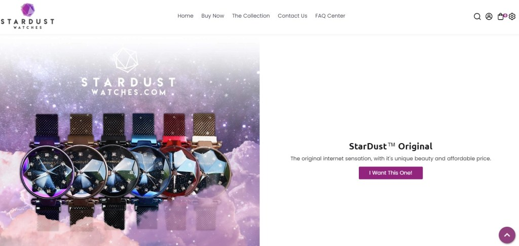 Stardust watches dropshipping store
