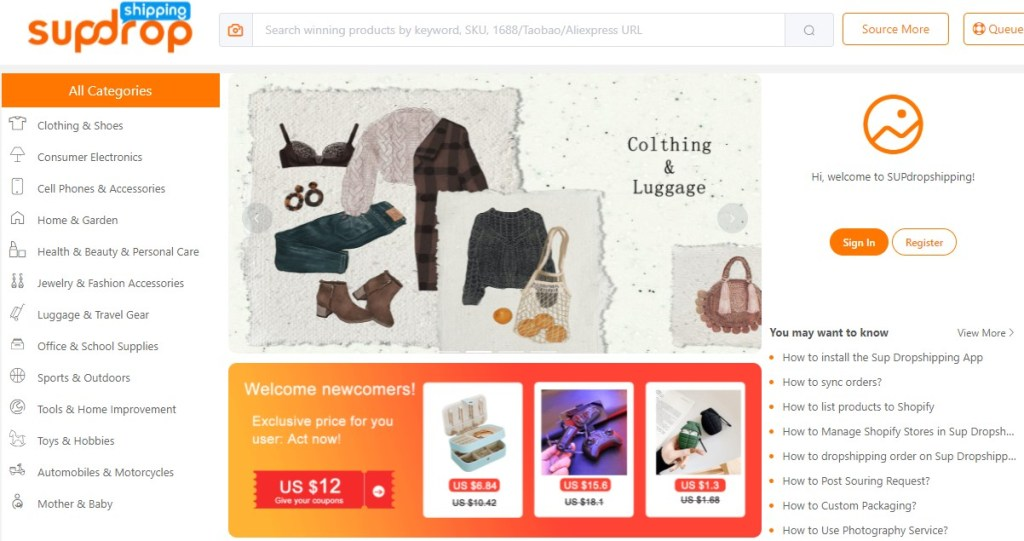 SupDropshipping - one of the best Chinese dropshipping suppliers