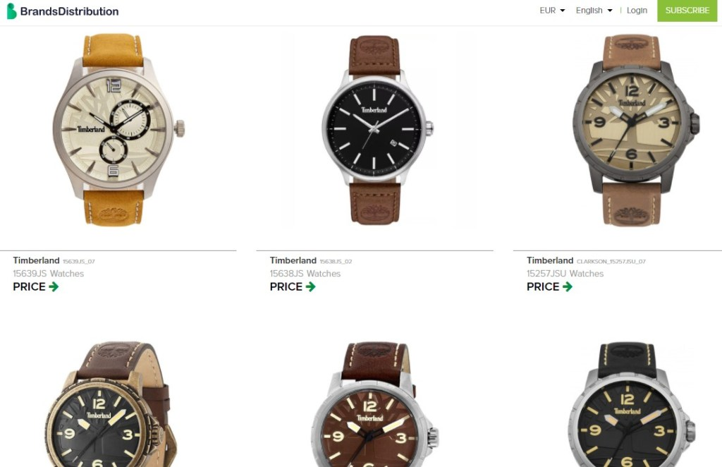 Watches dropshipping products on Brands Distribution