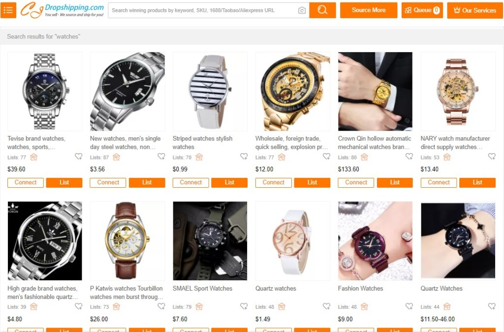 Watches products on CJ Dropshipping