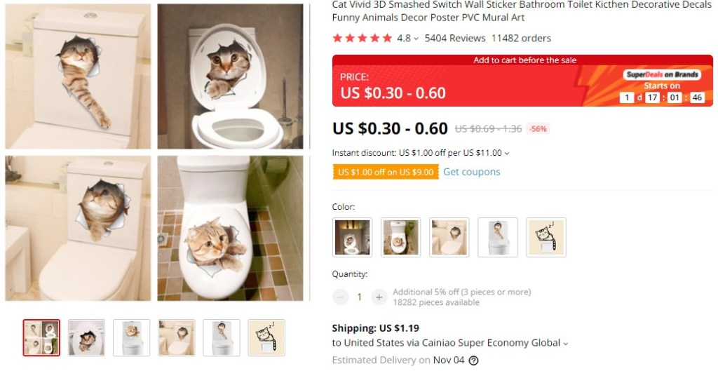 3D effect stickers dropshipping product idea