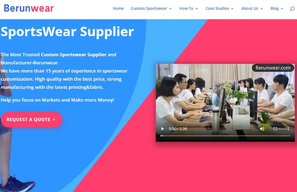 Berunwear fashion clothing manufacturer in China