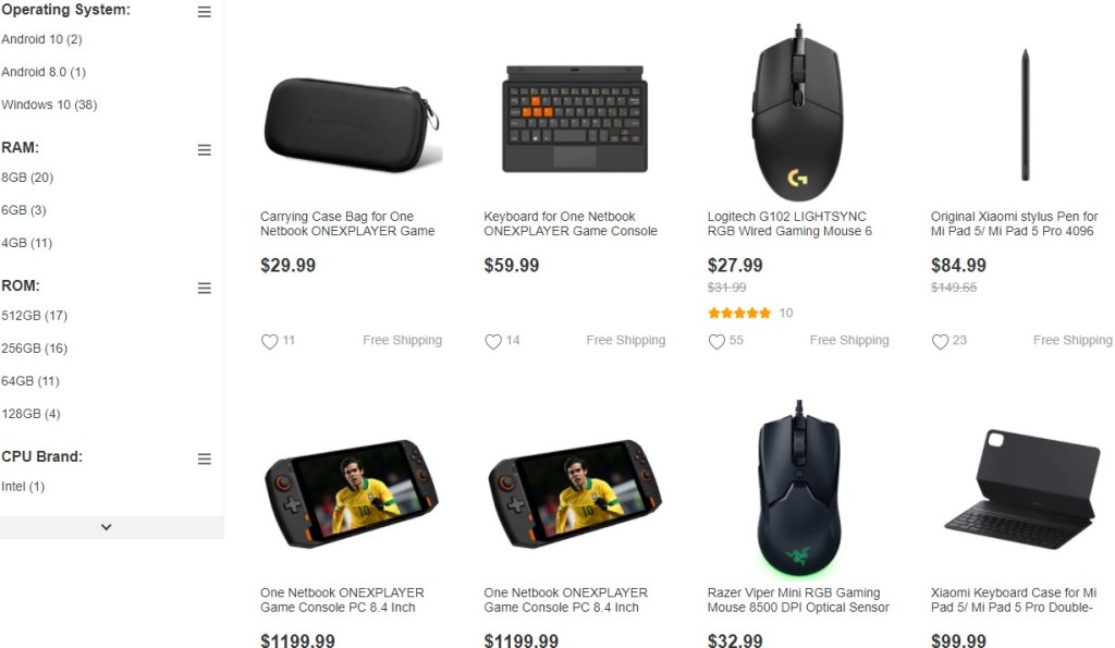 Brand name dropshipping products on GeekBuying
