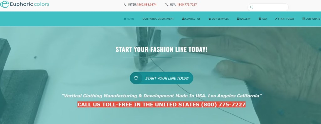 EophoricColors fashion clothing manufacturer in the US