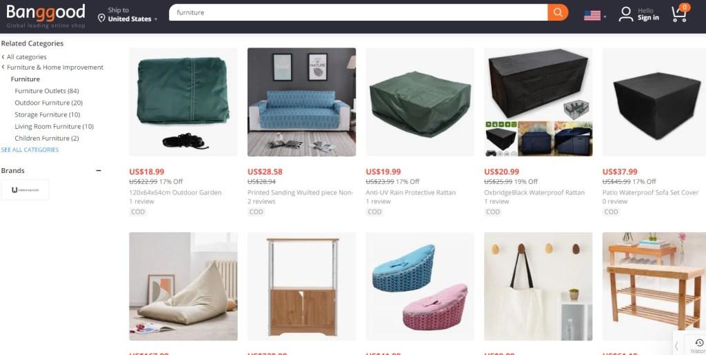 Banggood furniture dropshipping supplier