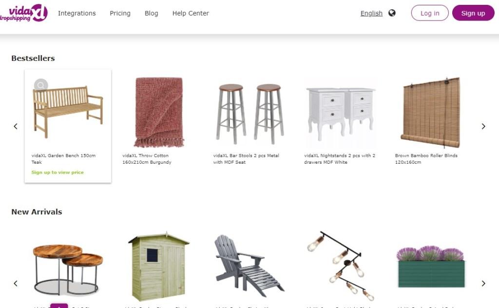 DropshippingXL furniture dropshipping supplier