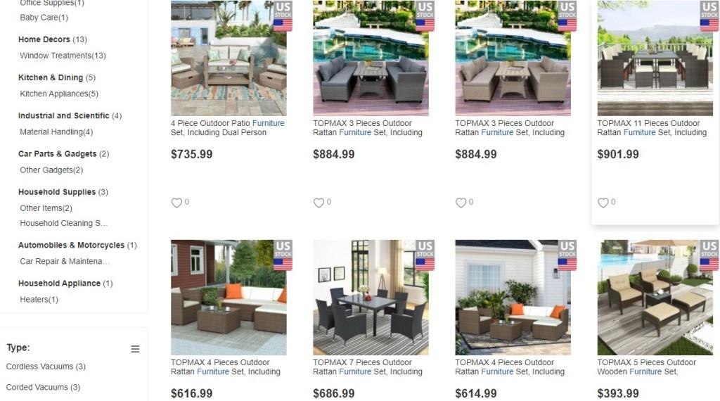 GeekBuying furniture dropshipping supplier