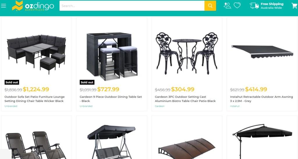 Ozdingo furniture dropshipping supplier