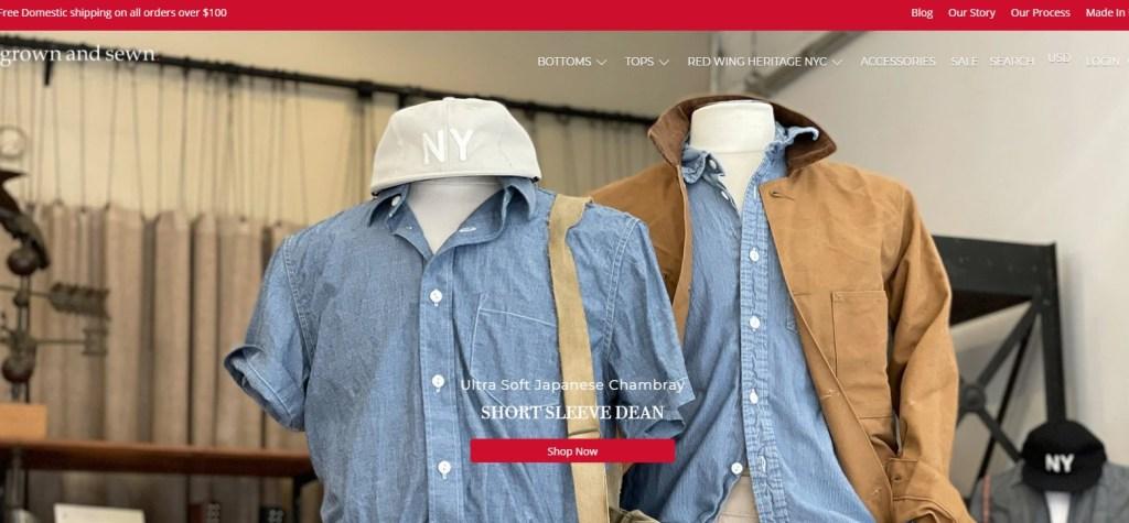 GrownAndSewn New York wholesale clothing vendor & distributor