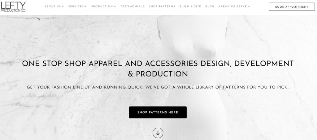 Lefty Production Co USA fashion clothing manufacturer