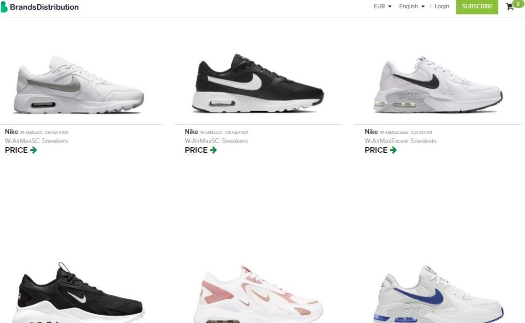 Nike & Adidas dropshipping shoes on BrandsDistribution