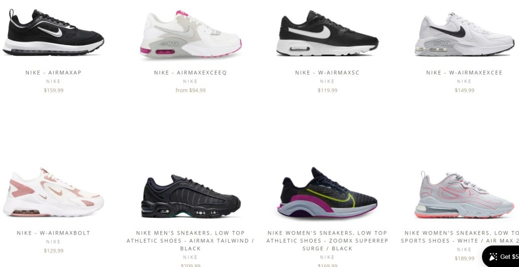 Nike & Adidas dropshipping shoes on InQue.Style