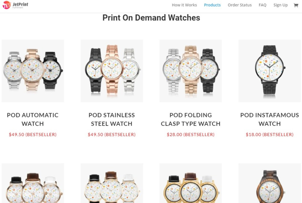 JetPrintApp jewelry & watches print-on-demand dropshipping supplier