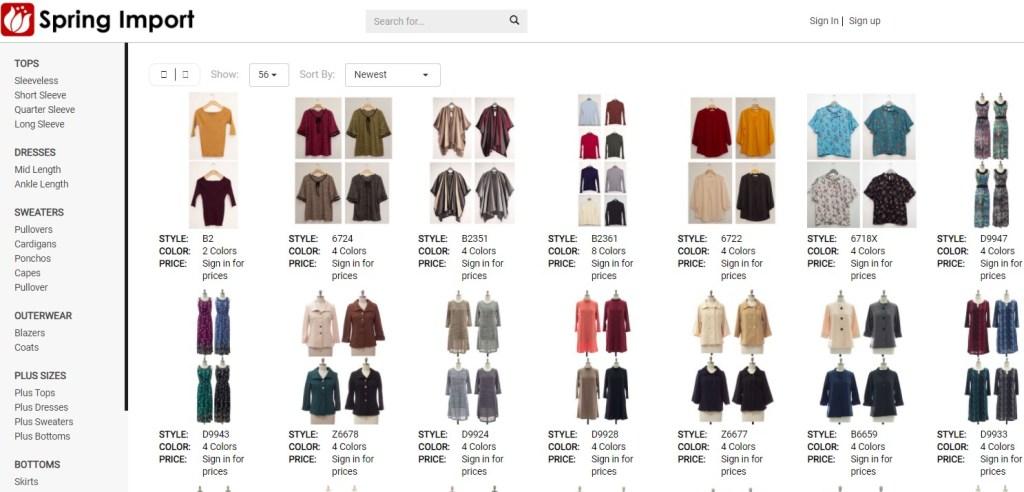 SpringImport New York wholesale clothing vendor & distributor