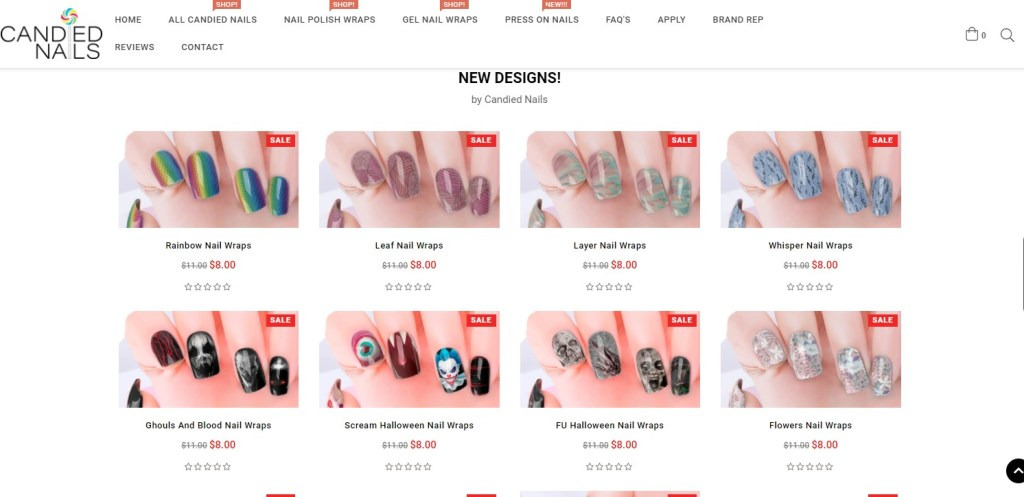Stickers dropshipping products on CandledNails