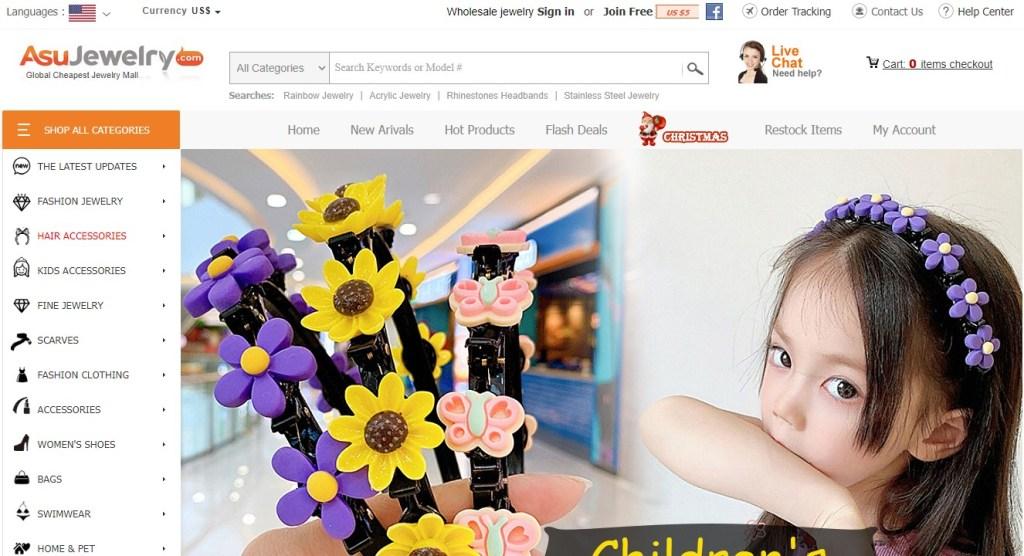 ASU Jewelry Korean fashion clothing wholesale supplier