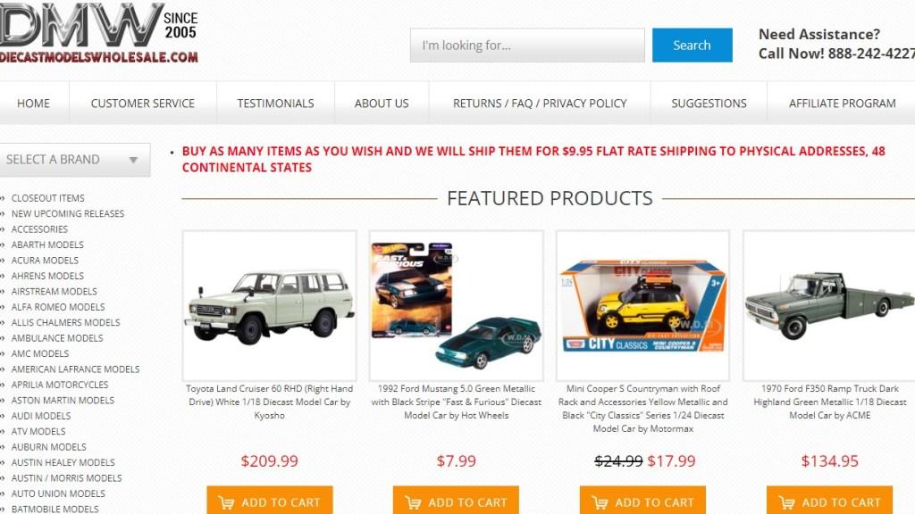 Diecast Models Wholesale US wholesale dropshipping supplier