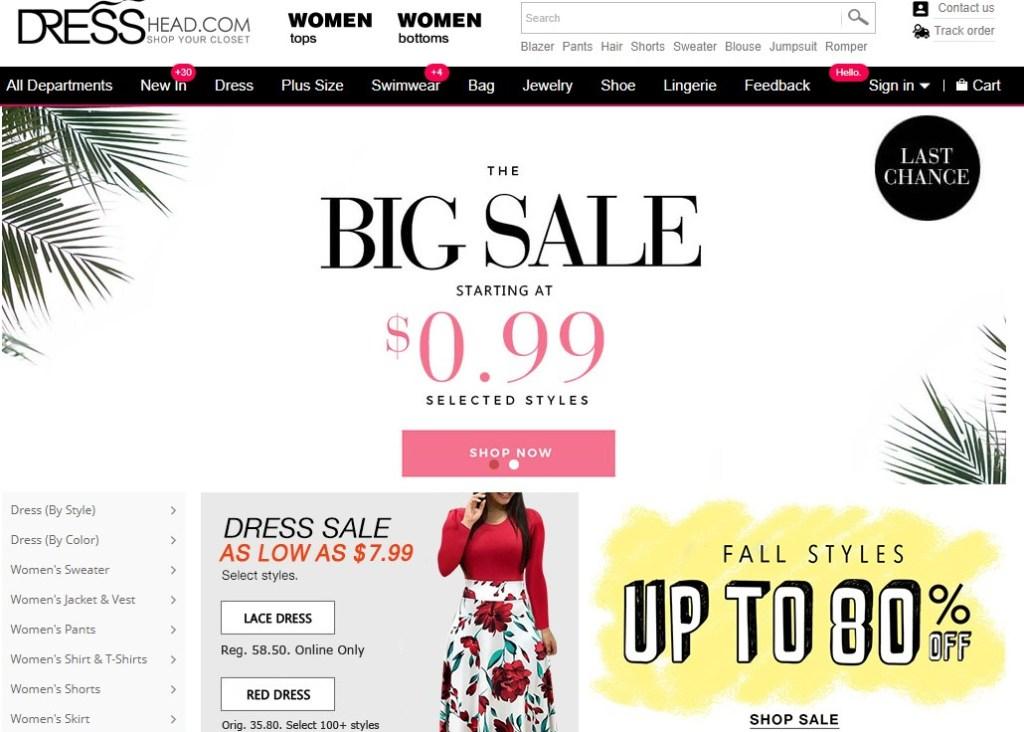 DressHead cheapest fashion clothing wholesaler