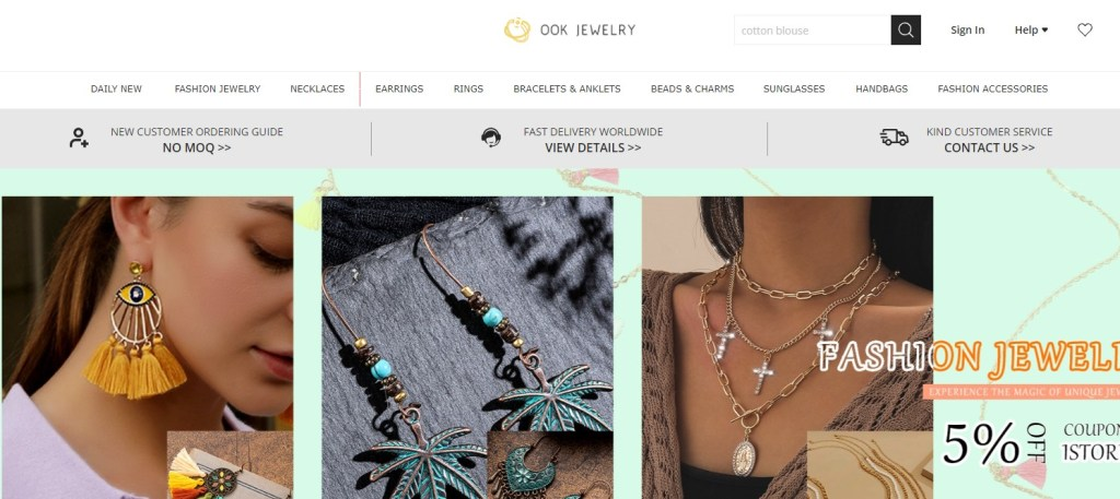 OOK Jewelry wholesale Korean jewelry supplier