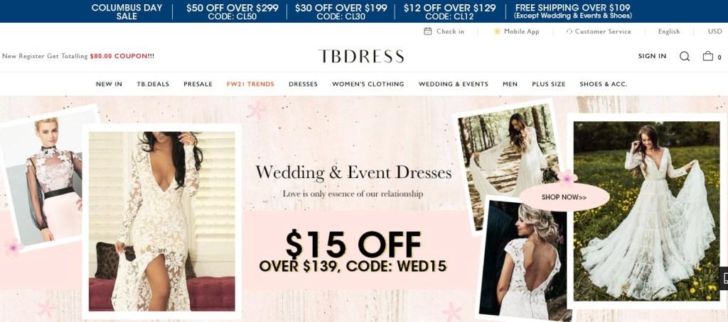 TBDress Chinese fashion clothing wholesalers with fast free worldwide shipping