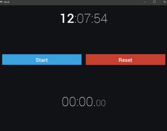 Python Clock app with Kivy