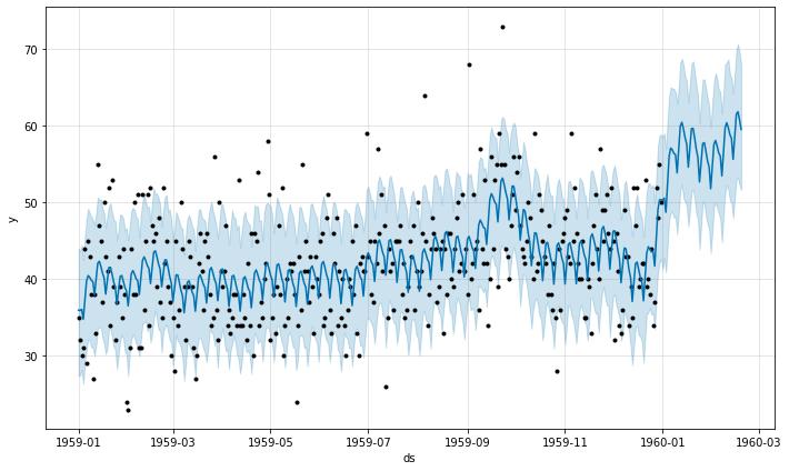 daily births forecasting