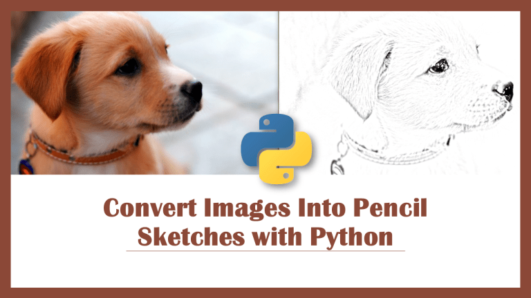 Pencil Sketch with Python