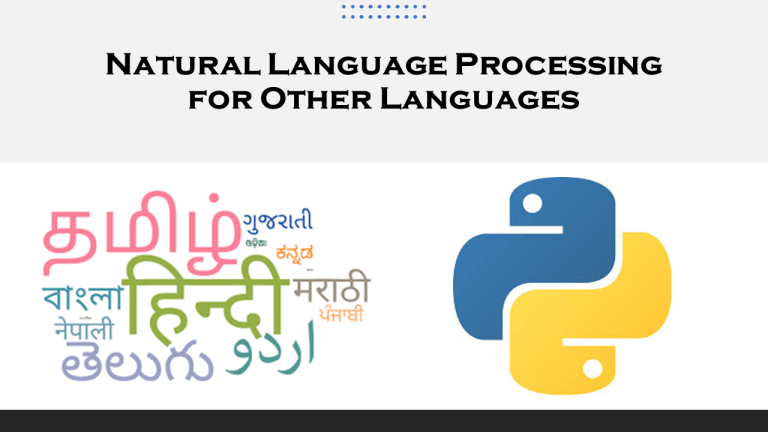 NLP for Other Languages with Machine Learning