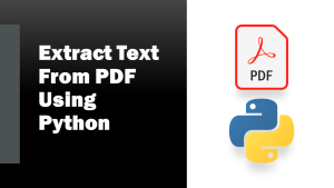 Extract Text from PDF using Python
