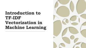 What is TF-IDF in Machine Learning?