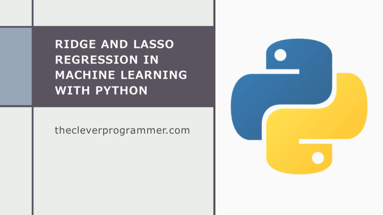 Ridge and Lasso Regression with Python