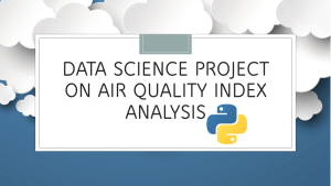 Air Quality Index Analysis with Python