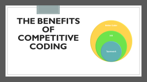 Benefits of Competitive Coding