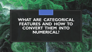 Convert Categorical Features to Numerical with Python