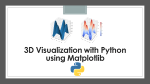 3D Surface Plots with Python