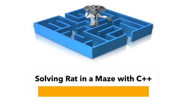 Rat in a Maze with C++