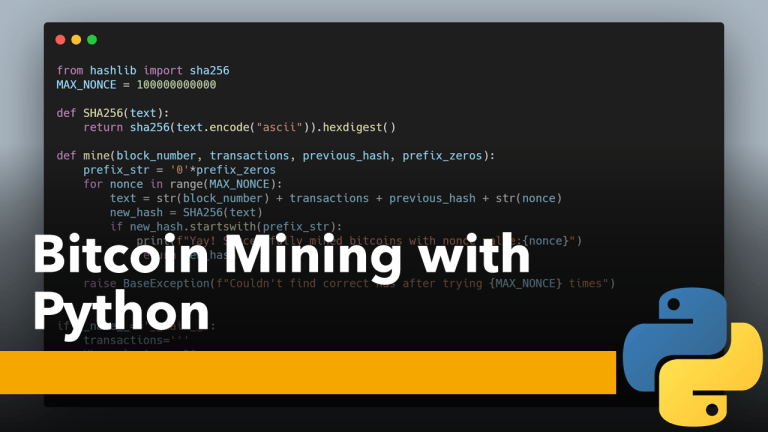 Bitcoin Mining with Python